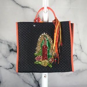 Handbags - Kitschy Virgin Mary handheld tote